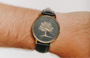 A classic branded wristwatch