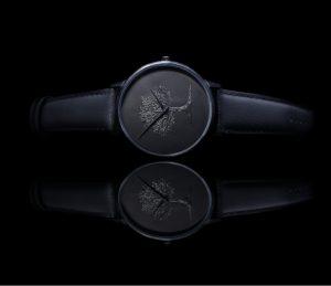 An all-black wristwatch—Belle Noir