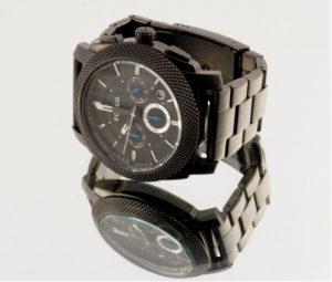 Metal vs. leather wristwatch